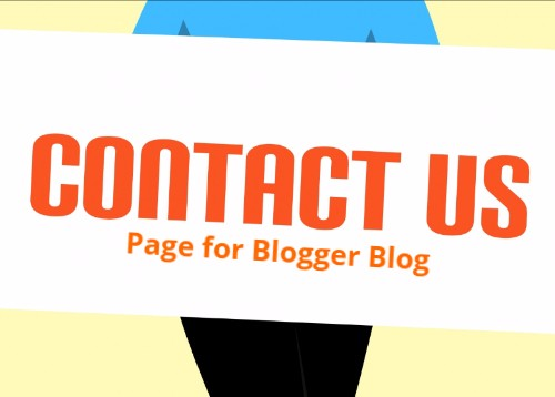 Add Contact Form on Blogger Page