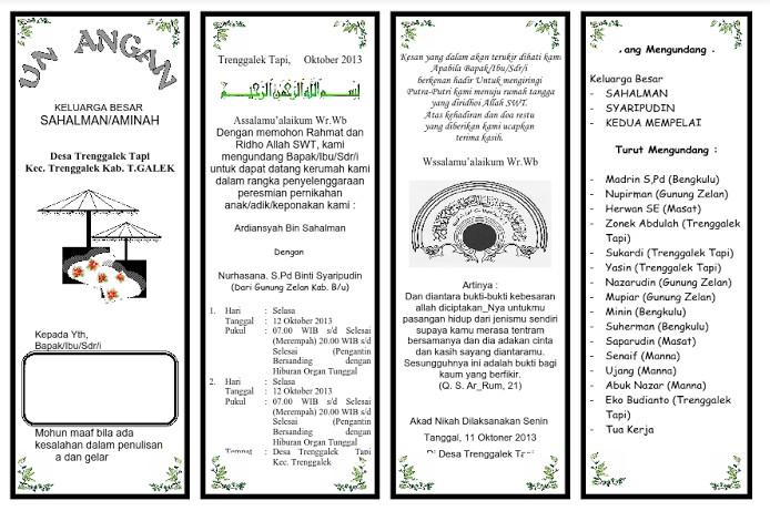 Download Undangan Pernikahan Dengan Word To Pdf Stafffuture