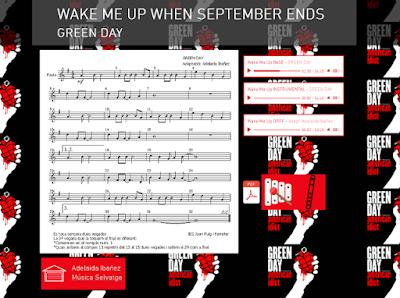 Resultado de imagen de wake me up when september ends wix
