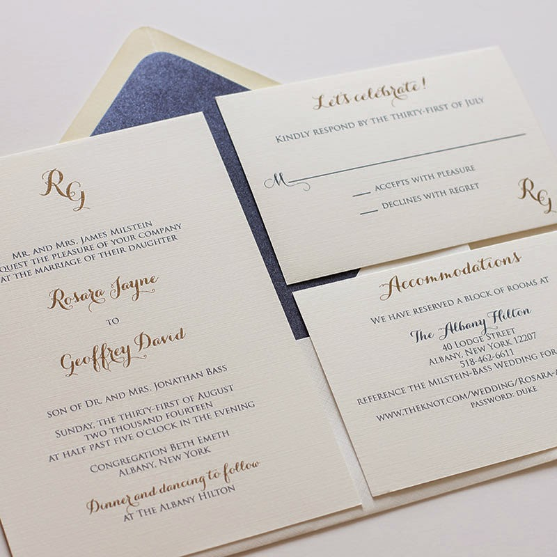 Blush Paperie: Navy And Gold Wedding Invitations