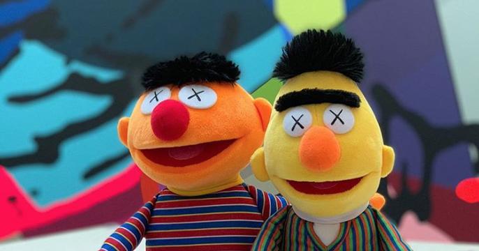 Bert BFF Sesame Street Funny Cute Key Chain Charm Ernie Rubber Keyring