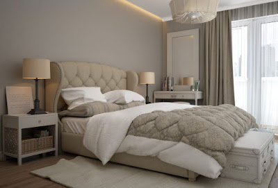 Cozy bedroom wall color idea with bristol beige