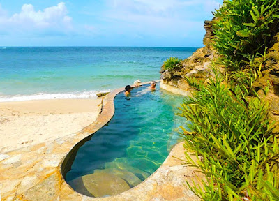 bliss, bliss beach, clothing optional, friends, naturism, plunge pool, nude beach, roatan, paya bay resort,