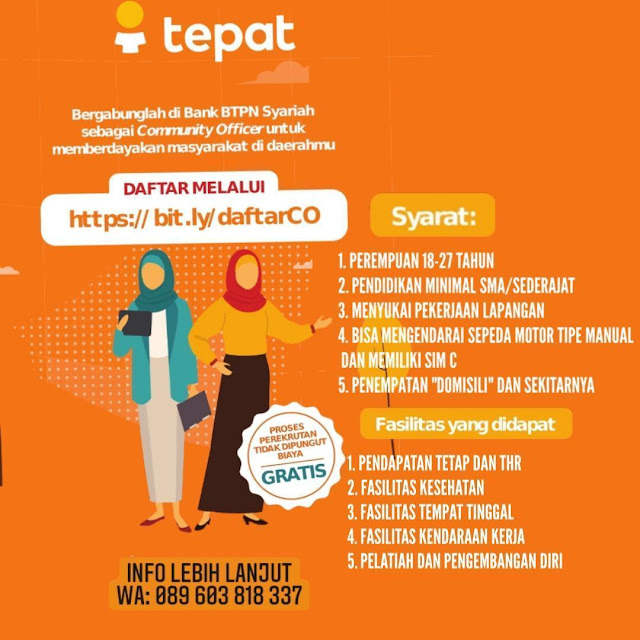 Lowongan Kerja Community Officer Bank BTPN Syariah Rembang