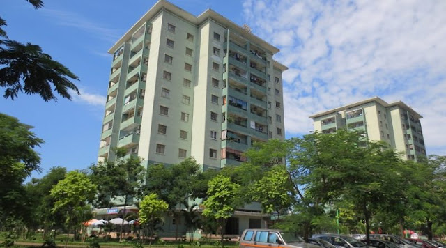 không gian xanh tại chung cư số 1 Trần Thủ Độ