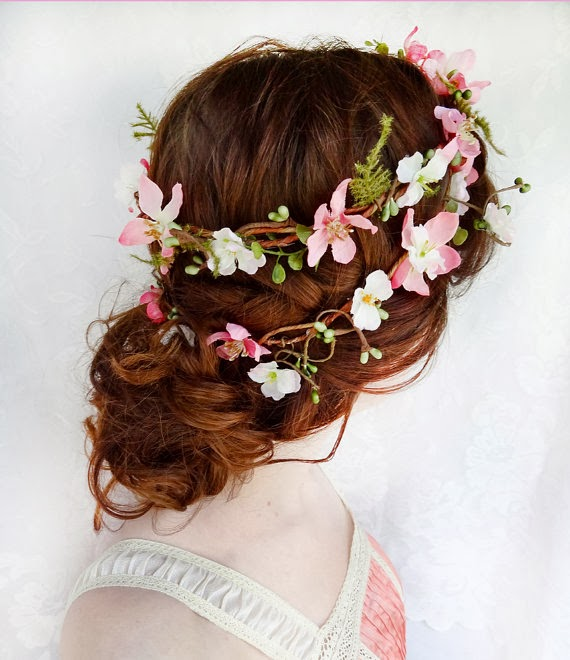 spring floral headpiece