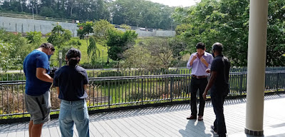 This scene with Steven Chia was shot during my filming session with CNA but it was ultimately left out in the final version.