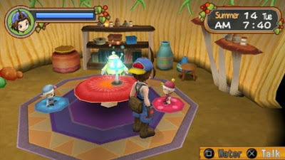 Hiring Harvest Sprites in Harvest Moon: Hero of Leaf Valley
