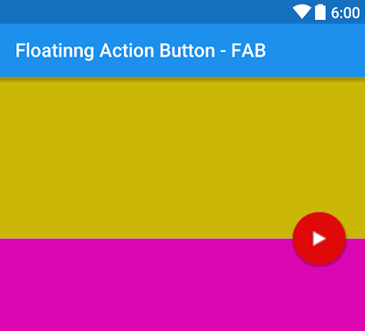 Android Example: How to Add FAB Between Two Layouts or Widgets