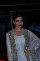Samantha Ruth Prabhu cute in Lace Border Anarkali Dress with Koti at 64th Jio Filmfare Awards South ~  Exclusive 051.JPG