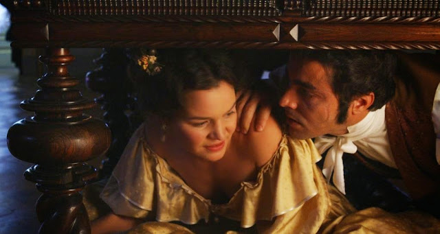 Ricardo Pereira as Alberto de Magalhães, Joana de Verona as Eugénia in Mysteries of Lisbon, Directed by Raúl Ruiz