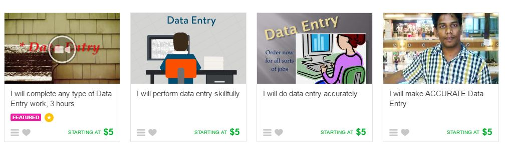 Data Entry Jobs Fiverr