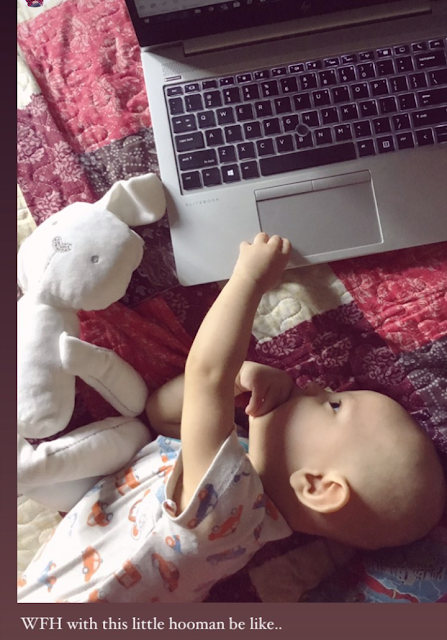 Working From Home With Little Yusuff