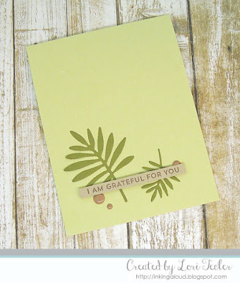I Am Grateful for You card-designed by Lori Tecler/Inking Aloud-stamps and dies from My Favorite Things