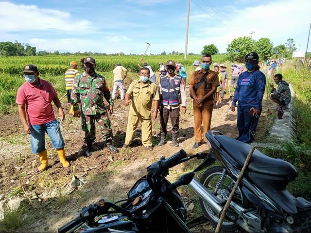 Marharoan Bolon Diwilayah Desa Binaan, Personel Jajaran Kodim 0207/Simalungun Kompak Dengan Masyarakat