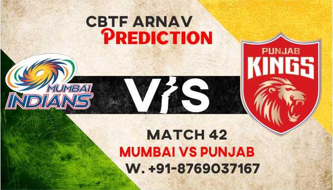 IPL 2021 MI vs PBKS IPL T20 42nd Match 100% Sure Match Prediction Today Tips