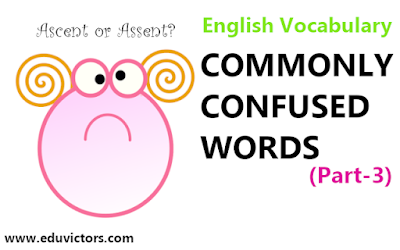 English Vocabulary - Commonly Confused Words (Part-3)(#eduvictors)(#englishvocabulary)