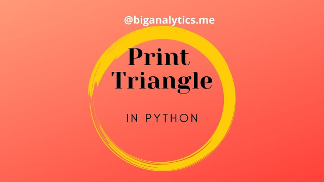How to print triangle in python