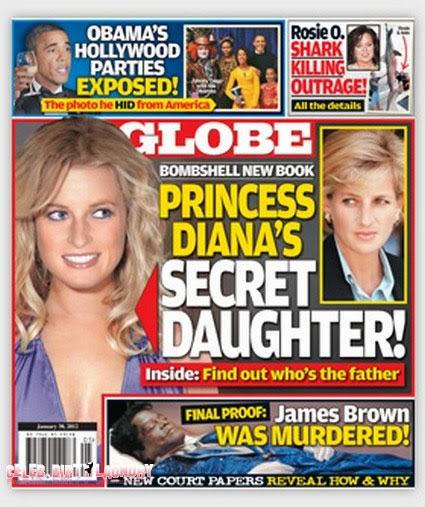 Revista Globe - Filha secreta da princesa Diana