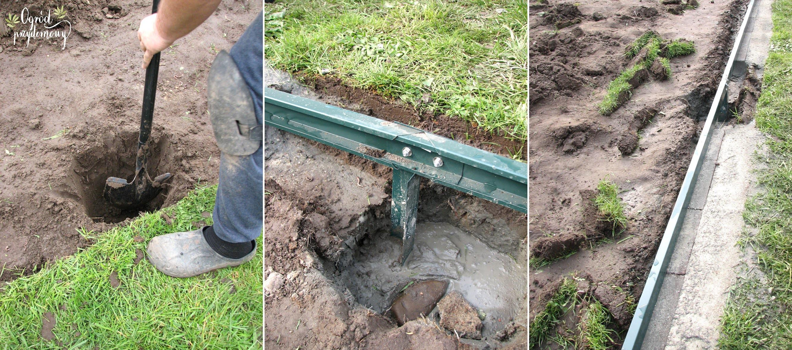 przygotowanie fundamentu pod szklarnie