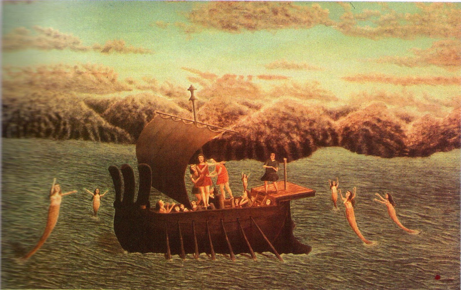 La rencontre d'ulysse et les sirenes