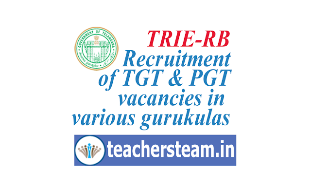 TRIE-RB Recruitment of TGT and PGT in gurukula Telangana Residential Educational Institutions