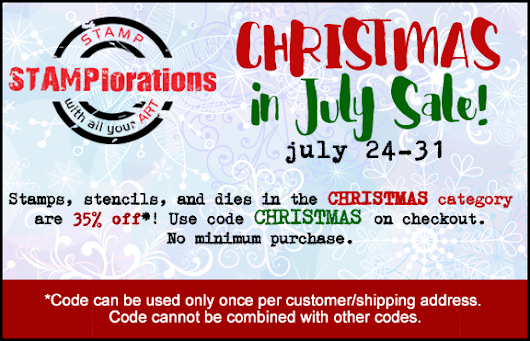 {Christmas in July Sale} Christmas stamps, stencils, and dies are 35% off!