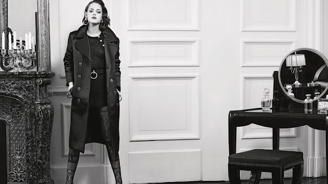 Kristen Stewart Classic Black & White Wallpaper