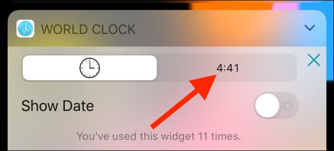 بدّل إلى العرض الرقمي في أداة World Clock.