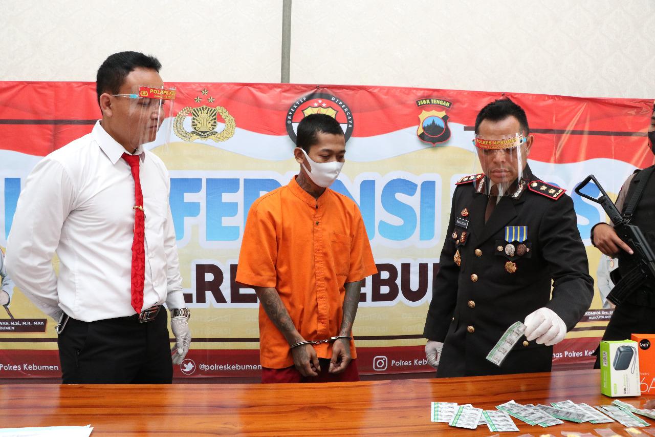 Edarkan Pil Koplo, Warga Kuwarsan Ditangkap Polisi