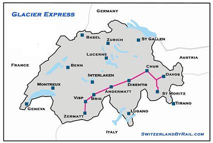 Glacier Express Treninin Rotası