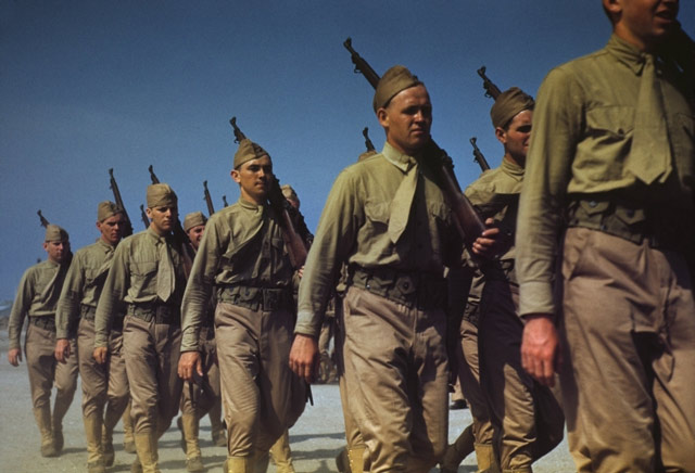 US Marines at Parris Island, May 1942 worldwartwo.filminspector.com