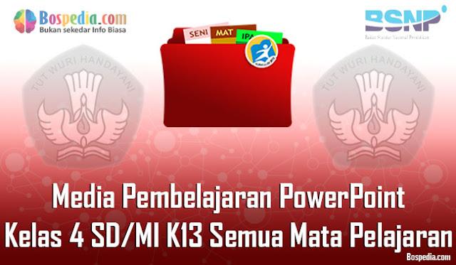Media Pembelajaran PowerPoint Kelas 4 SD/MI K13 Semua Mata Pelajaran