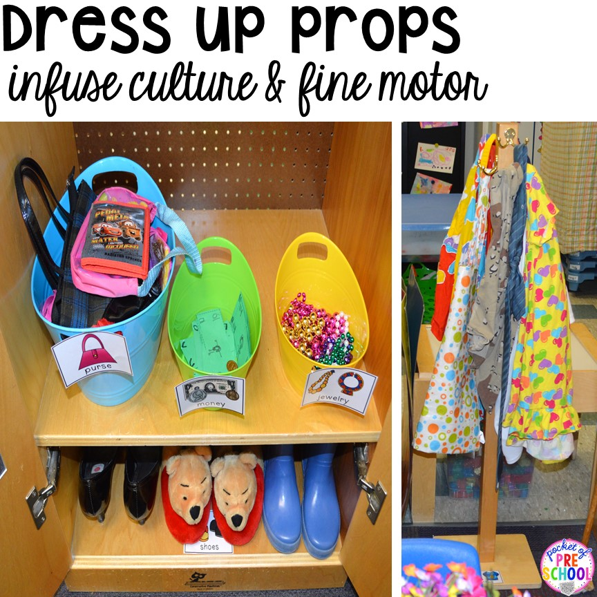 Classroom Dress Up Ideas ~ How to set up the dramatic play center in an early
