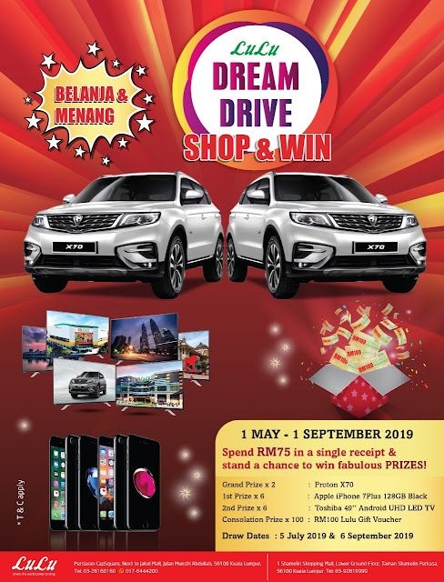 Lulu Dream Drive - Shop & Win Contest.