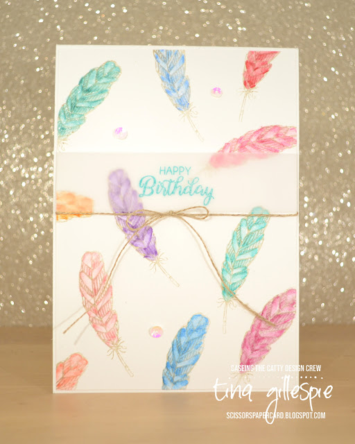 scissorspapercard, Stampin' Up!, CASEing The Catty, Hugs From Shelli, Beautiful Bouquet, Watercolour Pencils
