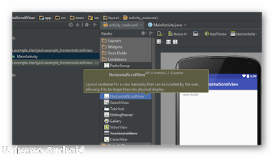 Android Studio - HorizontalScrollView