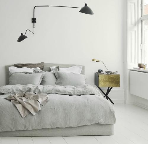 Stilvolles Schlafzimmer fotografiert von Heidi Lerkenfeldt