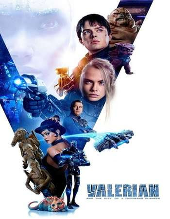 Poster Of Valerian and the City of a Thousand Planets 2017 In Hindi Bluray 720P Free Download