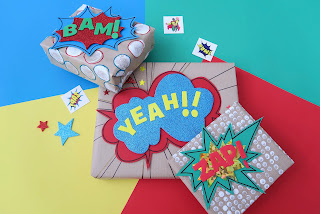 Comics themed gift wrap