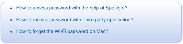 find wifi password in mac