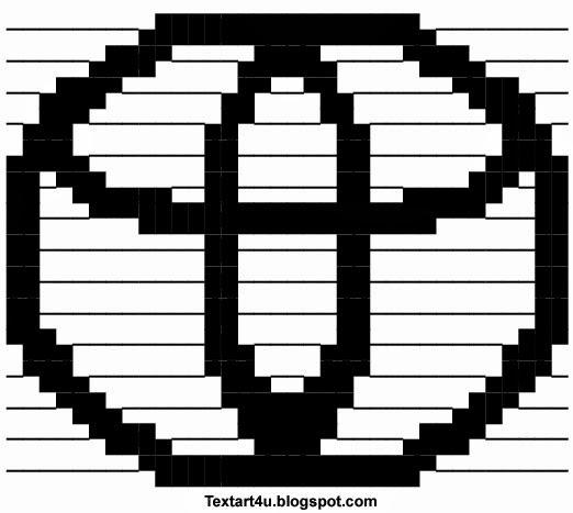 Toyota Logo ASCII | Copy Paste Text Art | Cool ASCII Text ... Symbols Copy And Paste Cool