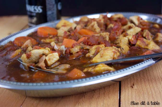 recette poulet à la Guinness