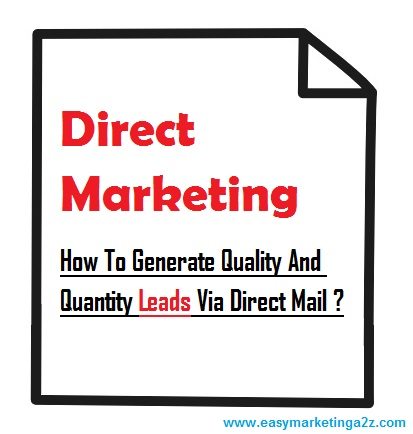 Direct mail and direct marketing