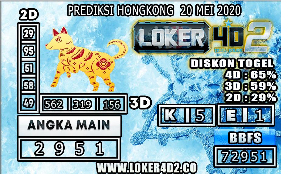 PREDIKSI TOGEL HONGKONG LOKER4D2 20 MEI 2020