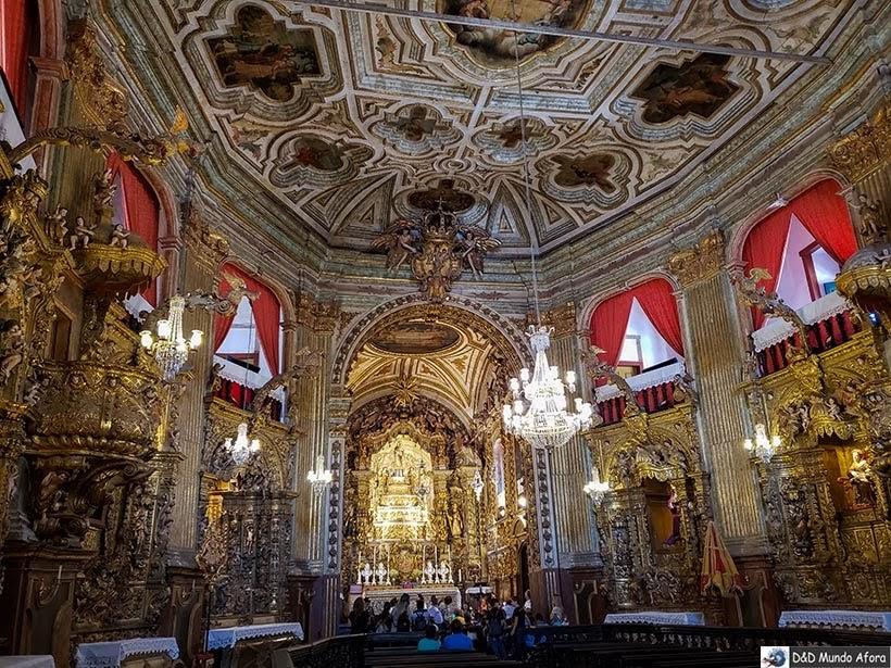Interior da Igreja de Nossa Senhora do Pilar - O que fazer em Ouro Preto (MG)