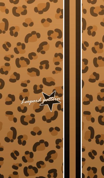 Leopard pattern -Yellow & stars-