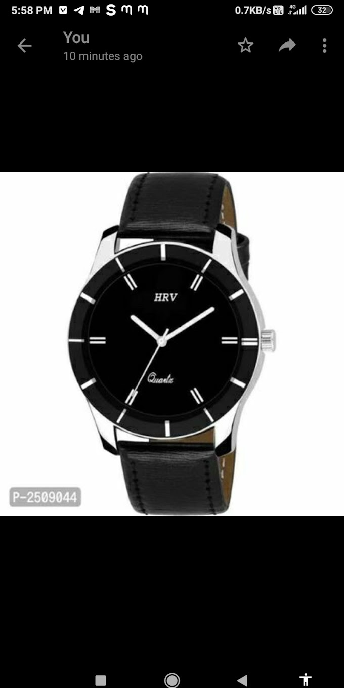 Synthetic leather watch for men