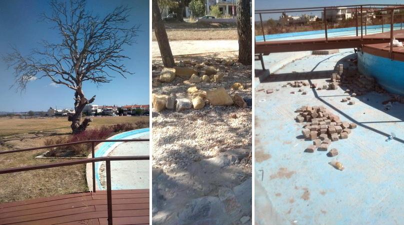 Δημήτρης Μερκούρης: Εμφανή σημάδια παρακμής και εγκατάλειψης στο Οικοπάρκο Αλτιναλμάζη