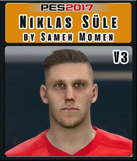 PES 2017 Faces Niklas Süle by Sameh Momen